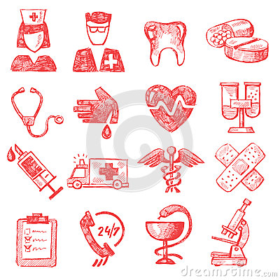 Hand draw medical Editorial Stock Photo