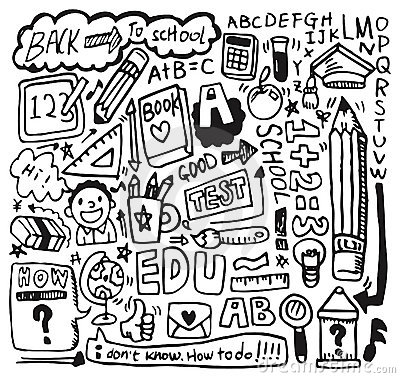 Hand draw school element
