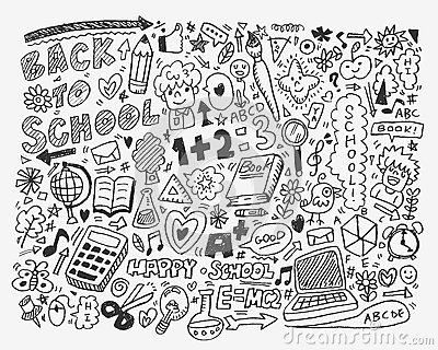 Hand draw school element