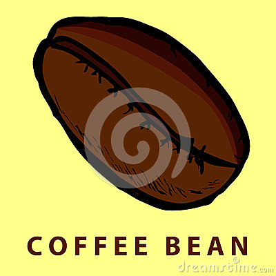 Hand draw sketch of coffee bean stock vector image 41288321 for How to draw a coffee bean
