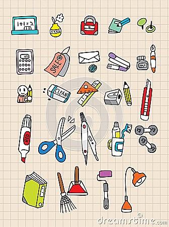 Free Hand Draw Stationery Stock Photo - 16804580