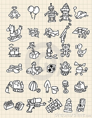 Hand draw toy element