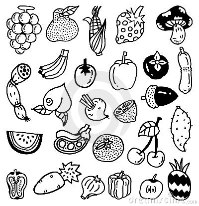 Hand Draw Vegetable Royalty Free Stock Photo - Image: 18231145