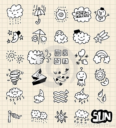 Free Hand Draw Weather Royalty Free Stock Images - 16794099