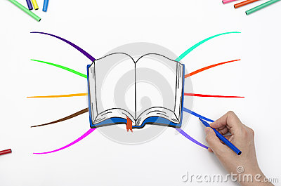 Hand drawing book mindmap