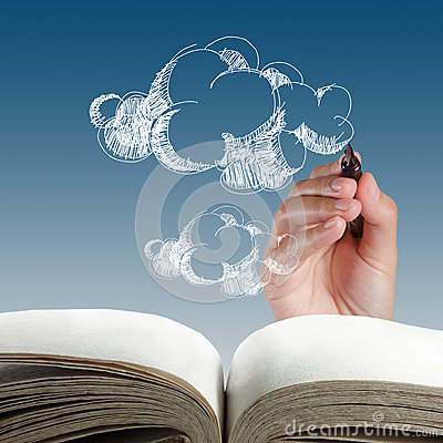 Hand drawing cloud network