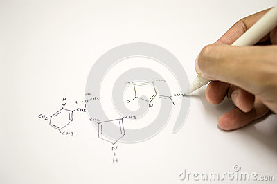 Hand drawing molecular structure
