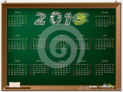 Hand drawn 2013 calendar