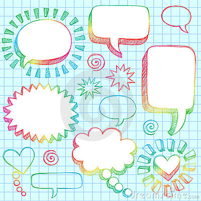 Free Hand-Drawn 3D Speech Bubbles Sketchy Doodles Stock Photos - 12536563