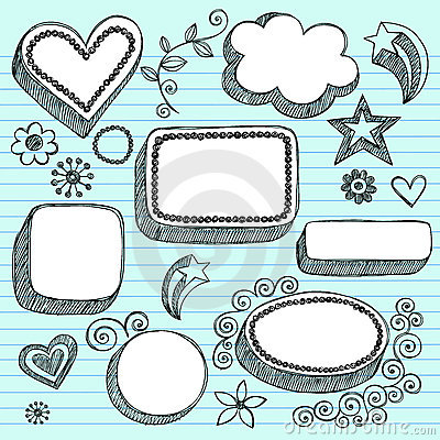 Free Hand-Drawn 3D Speech Bubbles Sketchy Doodles Royalty Free Stock Photography - 12536567