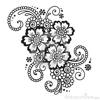 Stock Illustration Hand Drawn Abstract Henna Mehndi Flower Ornament Doodle Vector Illustration Design Element Image49660271 on credit payment templates free