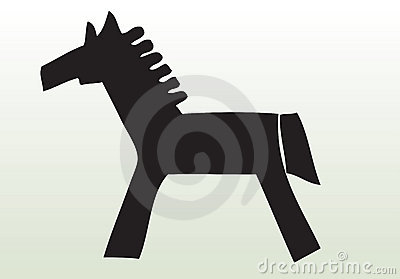 Hand drawn animal horse