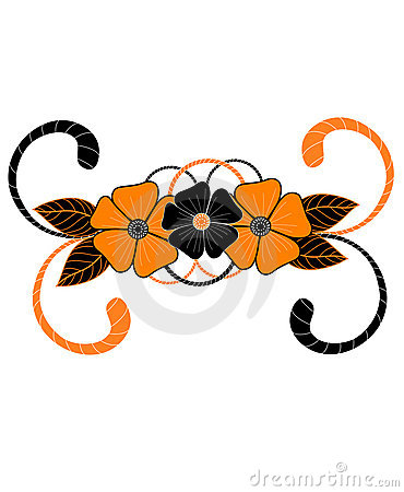 Hand-drawn artistic tiger flower