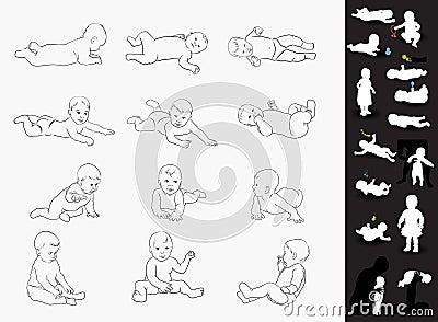 Hand drawn babies