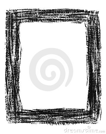 Hand-drawn black grunge frame