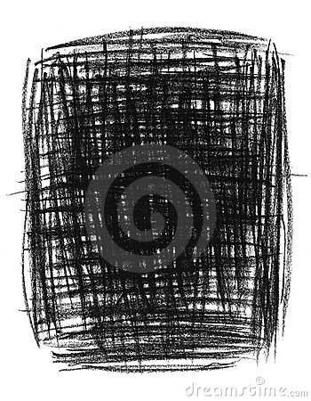 Hand-drawn black primitive background