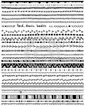 Free Hand - Drawn Borders Stock Image - 44516661