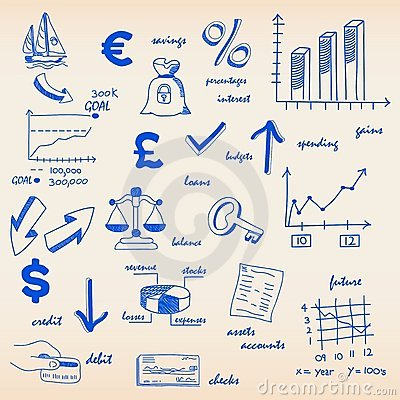 Hand Drawn Budgets Icon Set