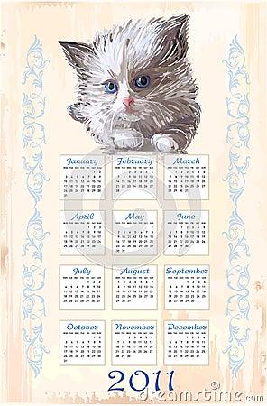 Hand drawn calendar 2011