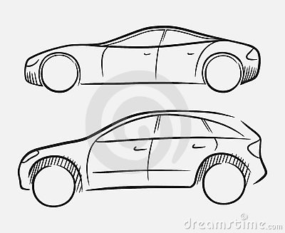 Hand-drawn cars