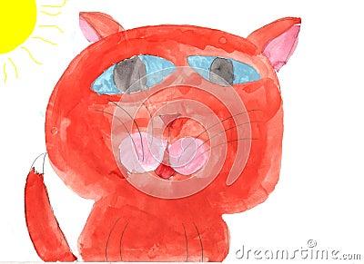 Hand drawn cat