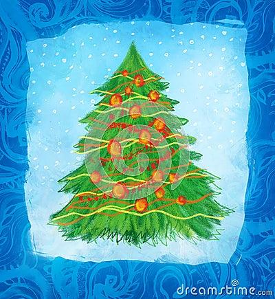Hand drawn christmas card design