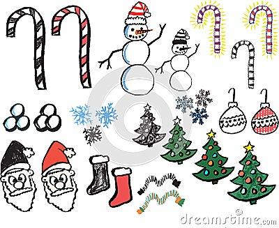 Hand drawn christmas graphics