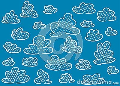 Hand drawn clouds