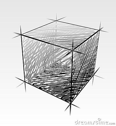 Hand drawn cube