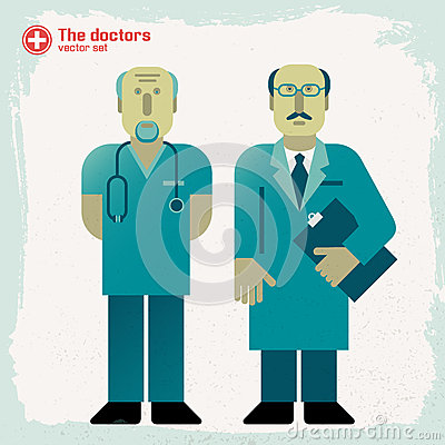 Hand drawn doctors