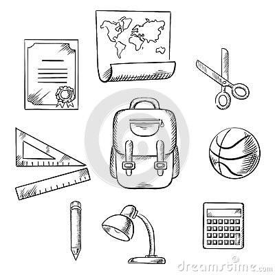 Free Hand Drawn Education Infographic Elements Royalty Free Stock Images - 66003999