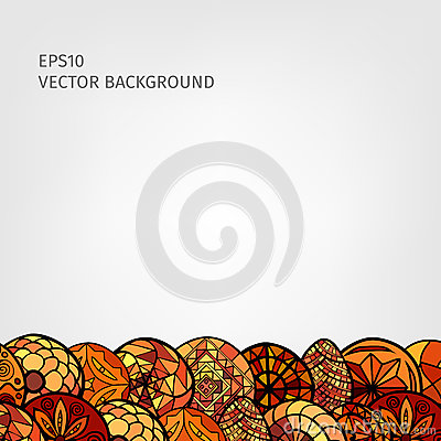 Hand drawn ethnic background Stock Photo