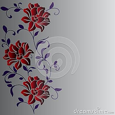 Hand drawn a fantasy flower