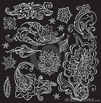 Hand drawn floral ornament