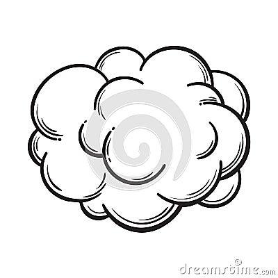 Free Hand Drawn Fog, Smoke Cloud, Isolated Comic, Sketch Vector Illustration Stock Photo - 98929100