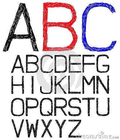 Hand drawn font