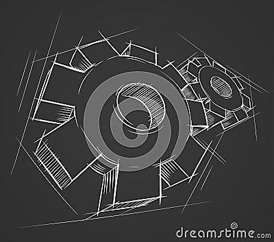Hand drawn gears