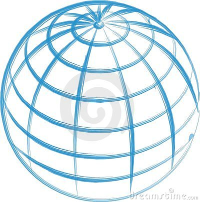 Hand Drawn Globe isolated