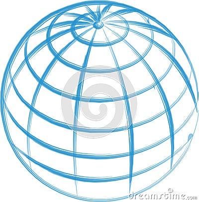 Free Hand Drawn Globe Isolated Stock Photography - 675022