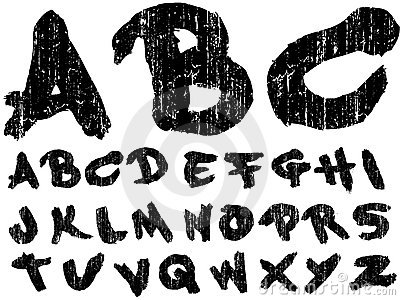 Hand Drawn Grungy Font