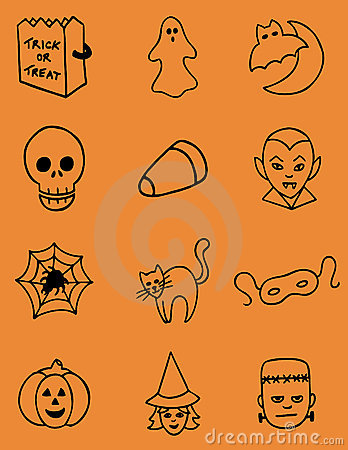 Hand Drawn Halloween Vector Icons