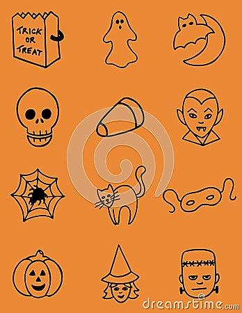 Hand Drawn Halloween Vector Icons