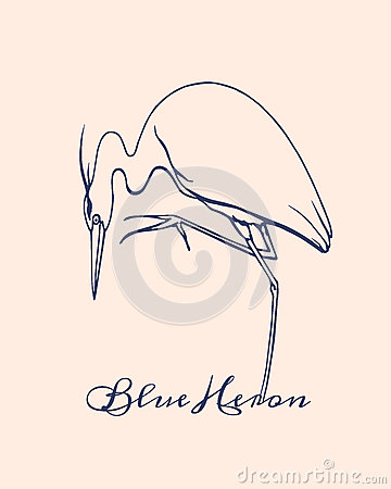 Free Hand Drawn Heron Stock Images - 71495374