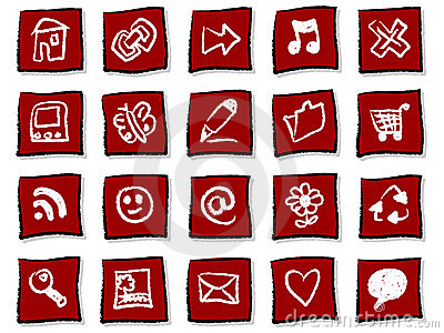 Hand drawn icons Editorial Stock Photo