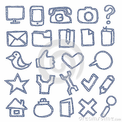 Hand Drawn Icons Set