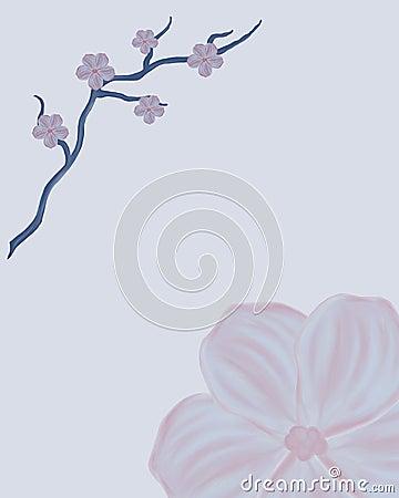 Hand drawn japanese style frame