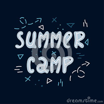 Free Hand-drawn Lettering In Sloppy Style. Doodles. Summer Camp Royalty Free Stock Photos - 143246748