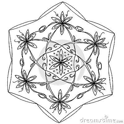 Hand-Drawn Mandala Stock Photo