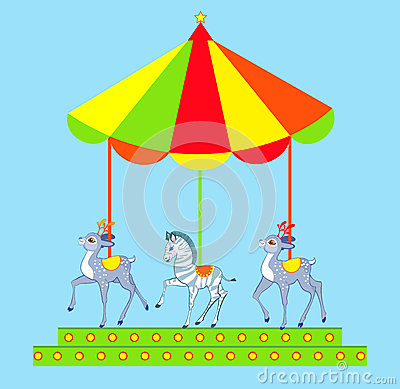 Free Hand Drawn Merry-go-round Royalty Free Stock Images - 26107319