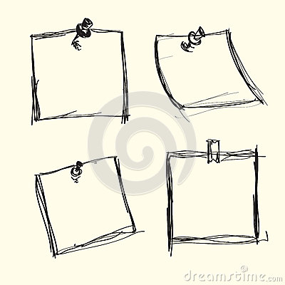 Hand drawn note papers